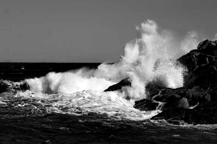 sea-spray-bw