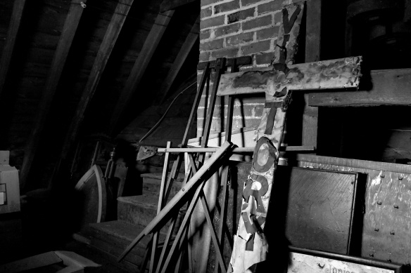 church attic BW