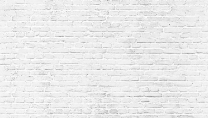 White painted old brick Wall